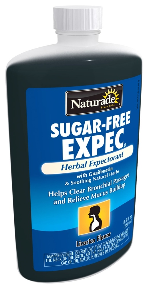 Naturade - Expec Herbal Expectorant Sugar Free with Guaifenesin Licorice Flavor - 8.8 oz.