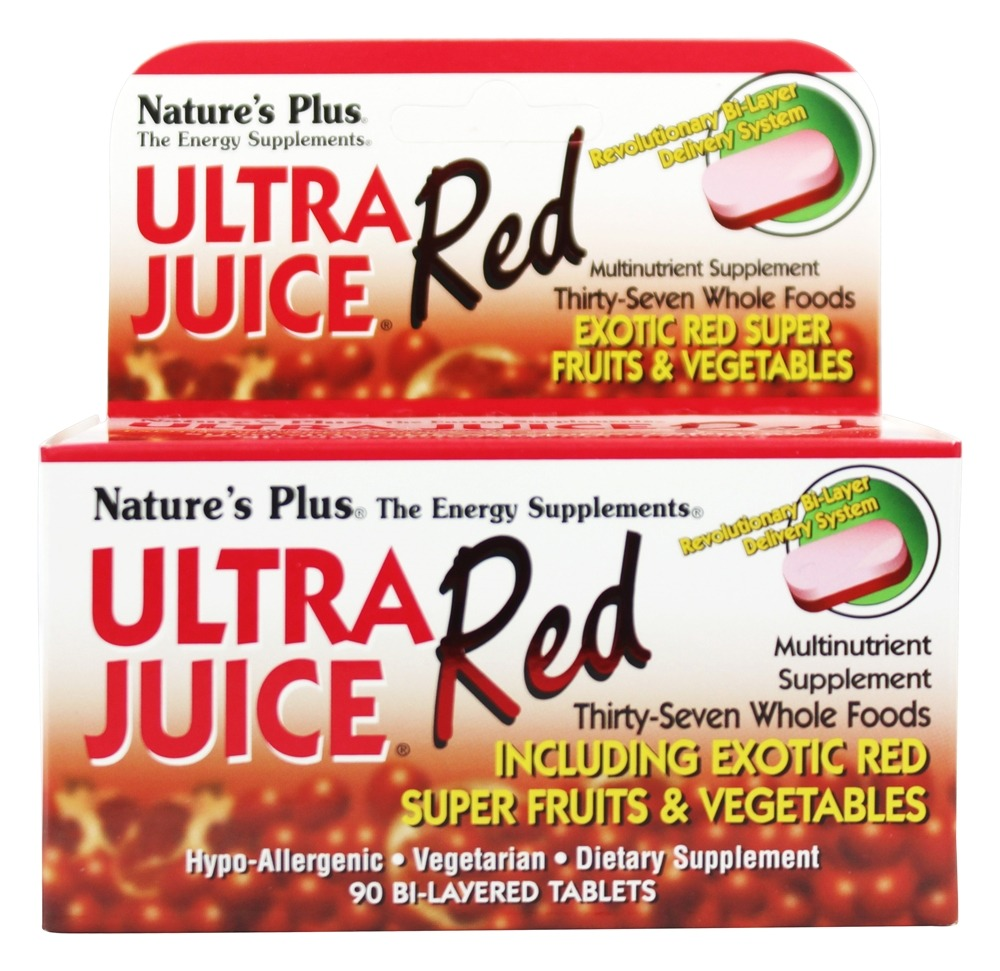 Nature's Plus - Ultra Juice Red Multinutrient Supplement - 90 Tablets