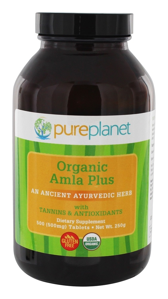 Pure Planet - Organic Amla-C Plus Natural Vitamin C 500 mg. - 500 Tablets