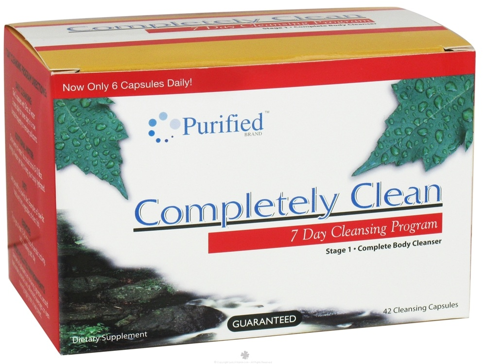 Purified Brand - Completely Clean 7 Day Cleansing System - 42 Capsules Formerly Heaven Sent Clean Slate 7 Day