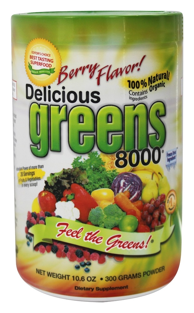 Greens World - Delicious Greens 8000 Berry Flavor - 10.6 oz.