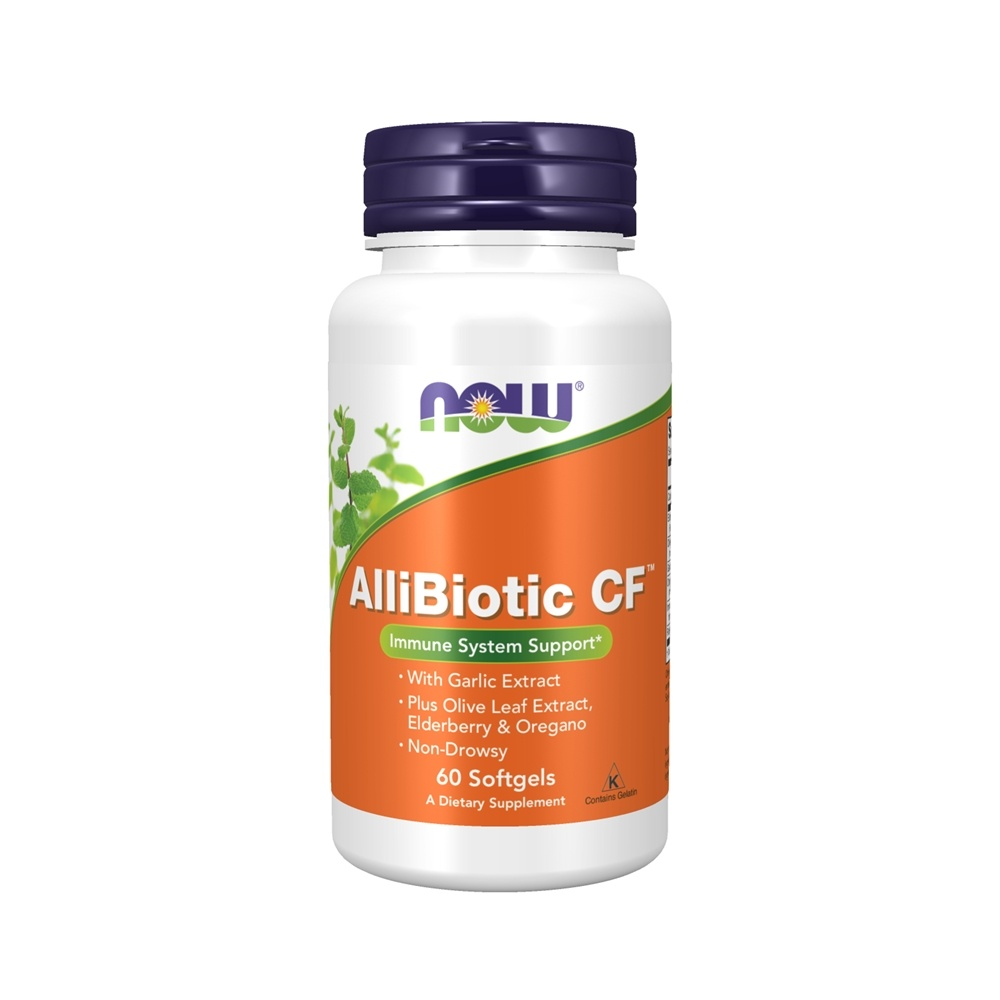NOW Foods - AlliBiotic Non-Drowsy CF - 60 Softgels