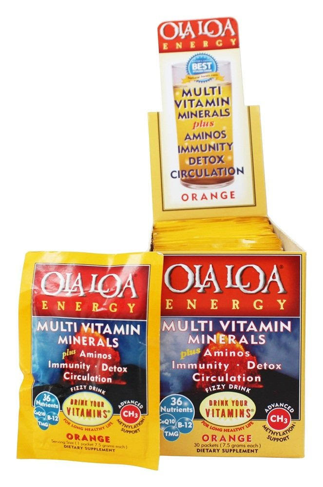 Ola Loa - Energy Super Multi-Vitamin Effervescent Orange - 30 x 7g Packets
