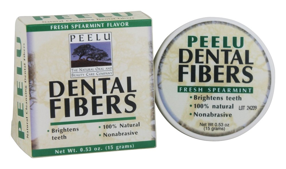 Peelu - Dental Fibers Tooth Powder Spearmint Flavor - 0.53 oz.