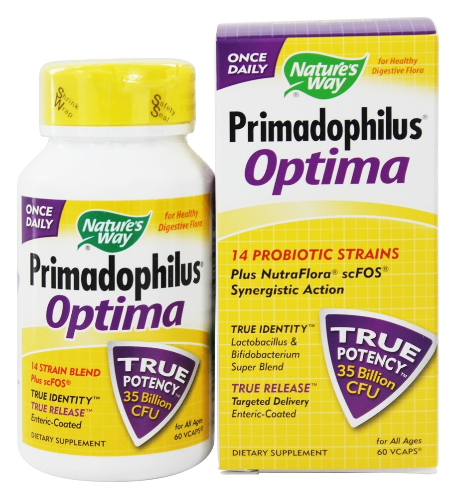 Nature's Way - Primadophilus Optima - 60 Vegetarian Capsules LUCKY DEAL
