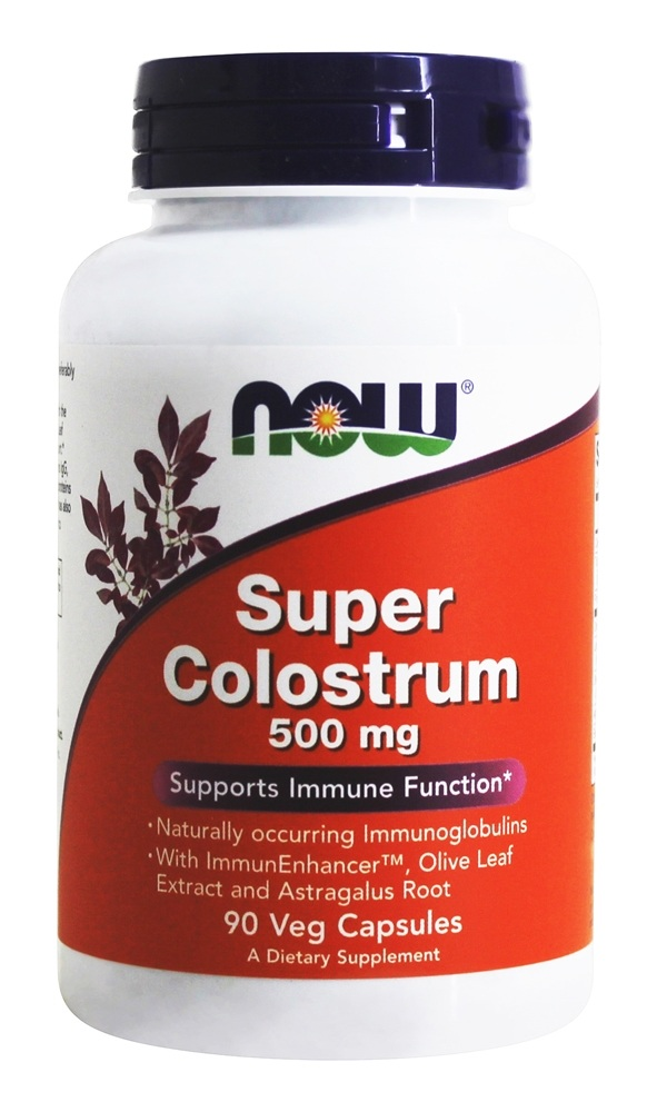 NOW Foods - Super Colostrum 500 mg. - 90 Vegetarian Capsules