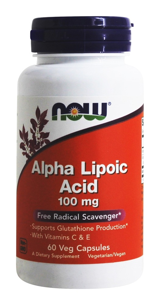 NOW Foods - Alpha Lipoic Acid 100 mg. - 60 Vegetarian Capsules