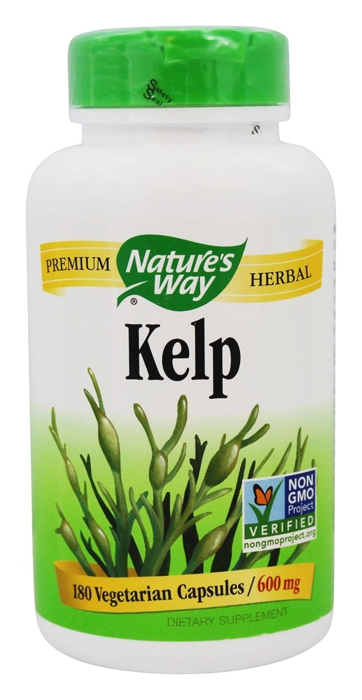 Nature's Way - Kelp 600 mg. - 180 Capsules LUCKY DEAL