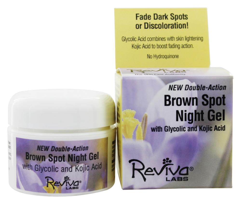 Reviva Labs - Brown Spot Night Gel With Glycolic and Kojic Acid - 1.25 oz.