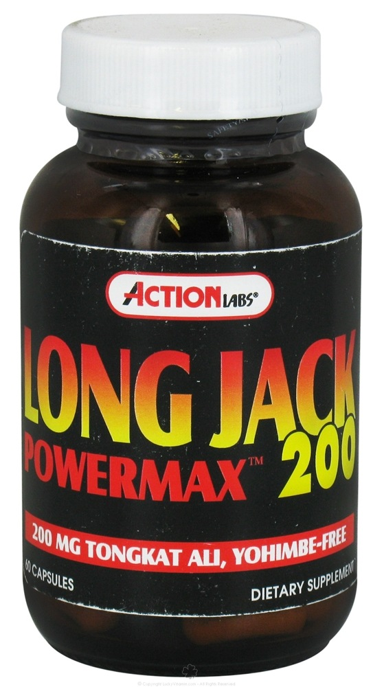 Action Labs - Long Jack Power Max 200 - 60 Capsules