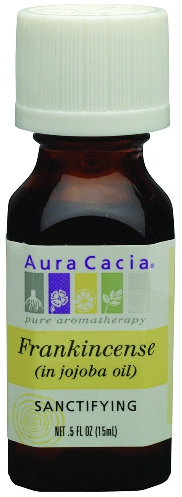 Aura Cacia - Precious Essentials Sanctifying Frankincense in Jojoba Oil - 0.5 oz.
