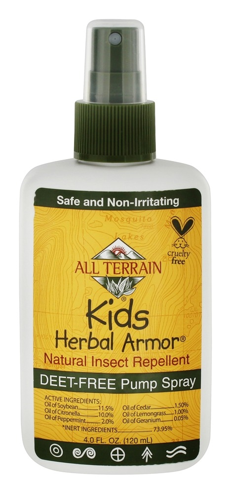 All Terrain - Herbal Armor Kids Insect Repellent Deet-Free Pump Spray - 4 oz.