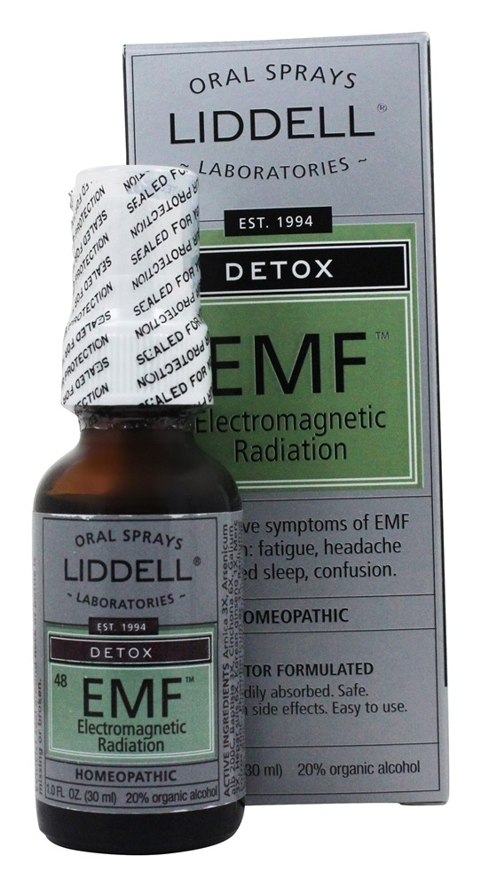 Liddell Laboratories - Detox EMF Electromagnetic Radiation Homeopathic Oral Spray - 1 oz.