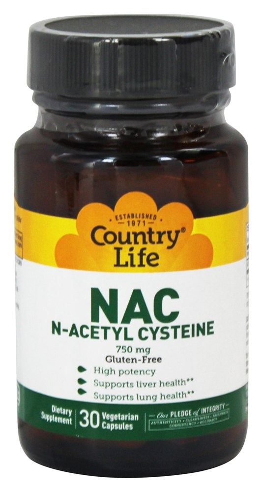 Biochem by Country Life - NAC (N-Acetyl Cysteine) 750 mg. - 30 Capsules