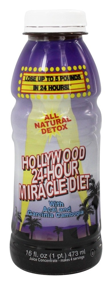 Hollywood Diet - Hollywood 24-Hour Miracle Diet with Acai and Garcinia Cambogia - 16 Oz.