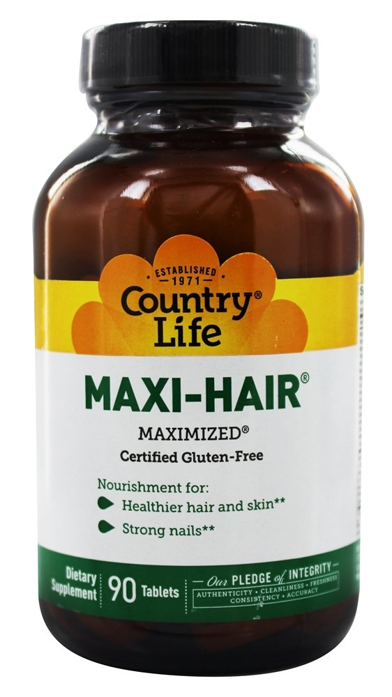 Country Life - Maxi-Hair Maximized Time Release - 90 Tablets
