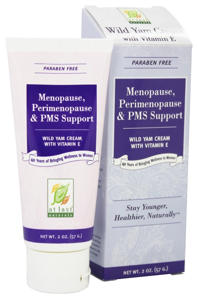 At Last Naturals - Wild Yam Cream with Vitamin E Menopause Support - 2 oz.