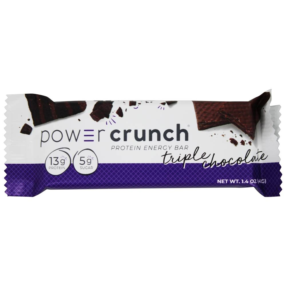 BioNutritional Research Group - Power Crunch High Protein Energy Wafer Triple Chocolate - 1.4 oz.