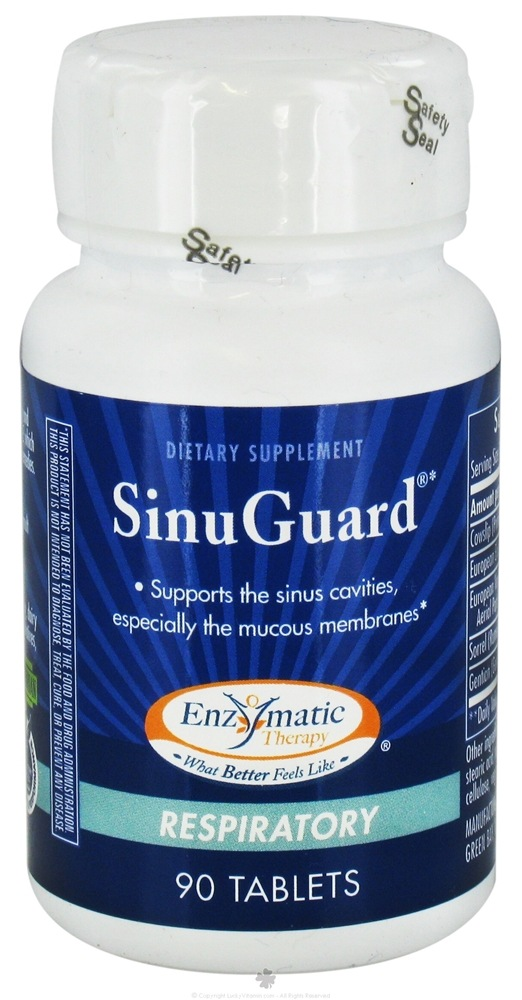 Enzymatic Therapy - SinuGuard - 90 Tablets