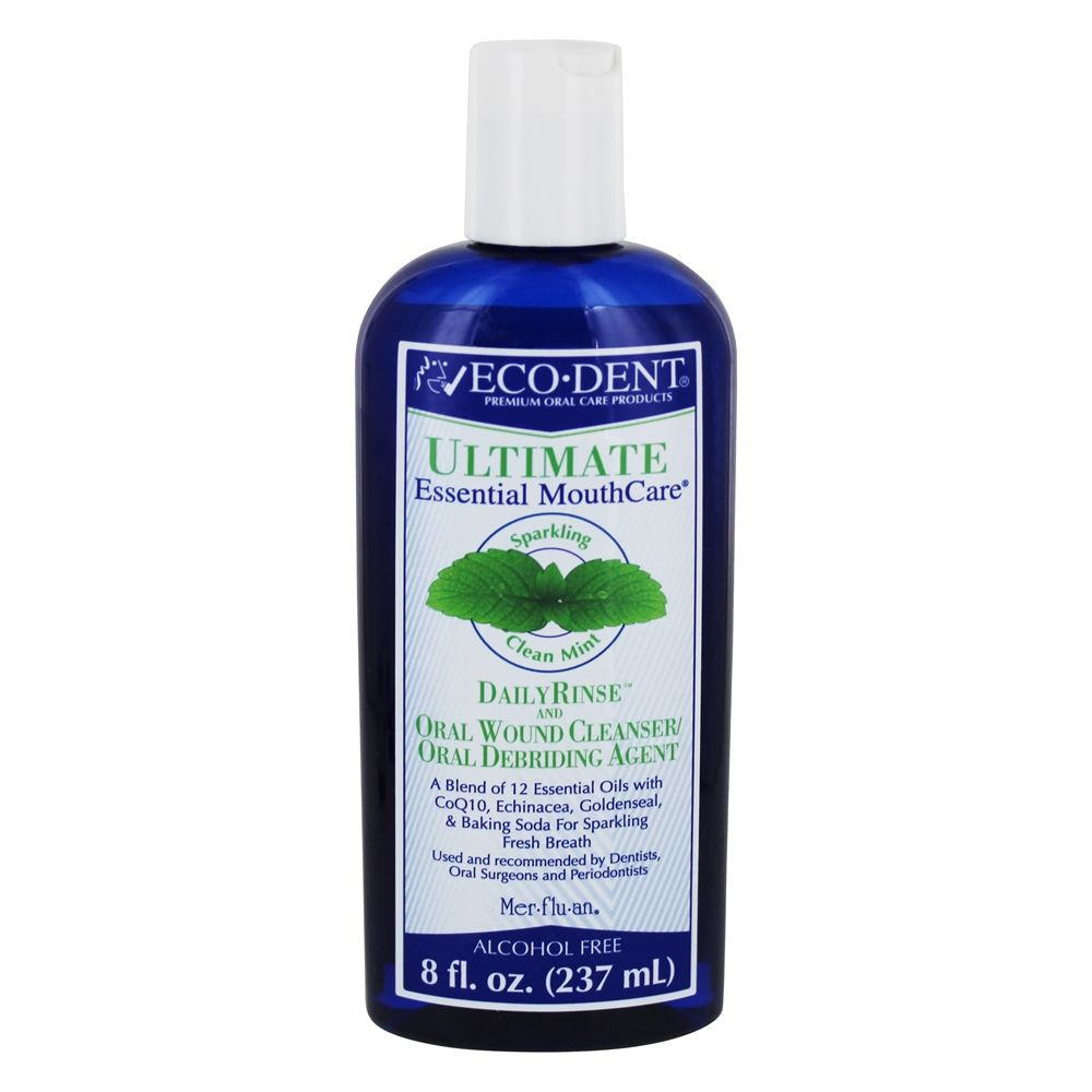 Eco-Dent - Ultimate Daily Mouth Rinse Sparkling Clean Mint - 8 oz.