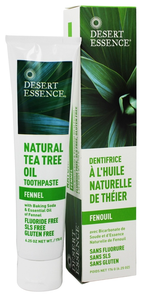 Desert Essence - Toothpaste Natural Tea Tree Oil With Baking Soda Fennel - 6.25 oz.