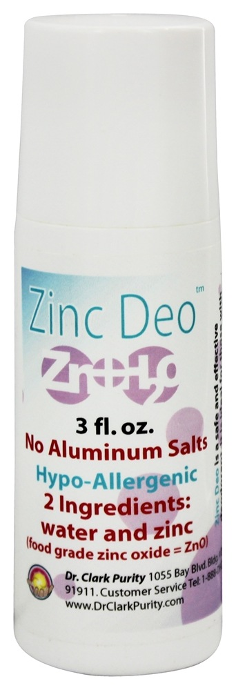 Dr. Clark Purity Products - Zinc Deodorant Roll-On - 3 oz.