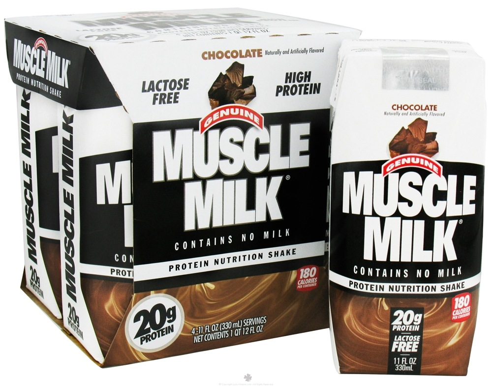 Cytosport - Muscle Milk RTD Nutritional Shake Chocolate - 4 Pack(s) CLEARANCE PRICED