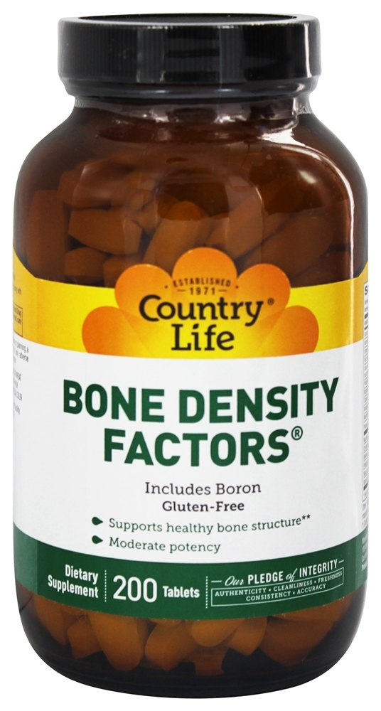 Country Life - Bone Density Factors - 200 Tablets Formerly Biochem