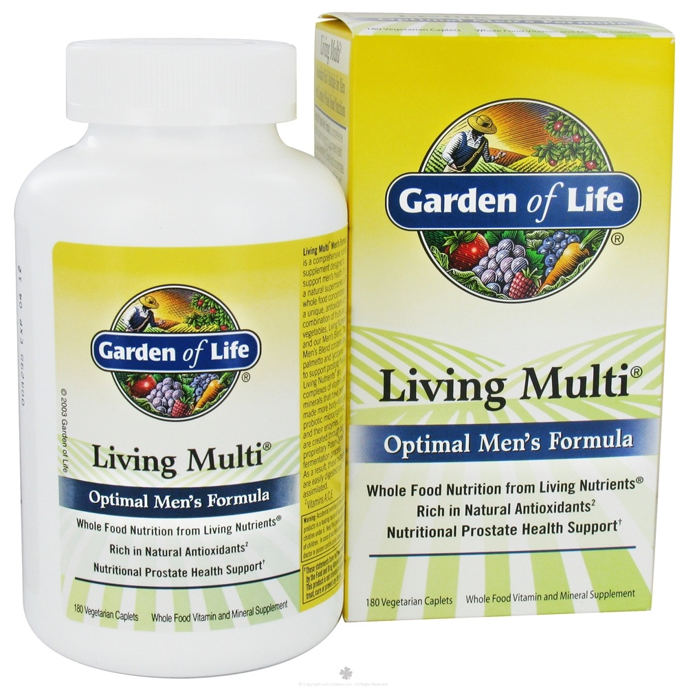 Garden of Life - Living Multi Optimal Men's Formula - 180 Vegetarian Caplet(s)