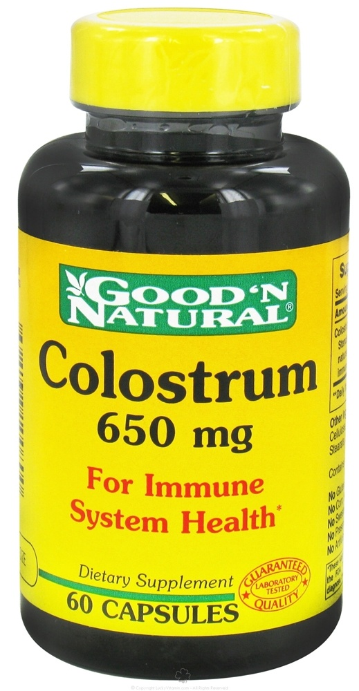 Good 'N Natural - Colostrum 650 mg. - 60 Capsules