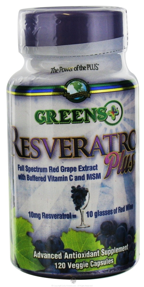 Greens Plus - Resveratrol Plus - 120 Vegetarian Capsules