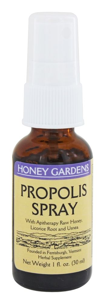 Honey Gardens Apiaries - Propolis Spray With Purple Loosestrife & Usnea - 1 oz.