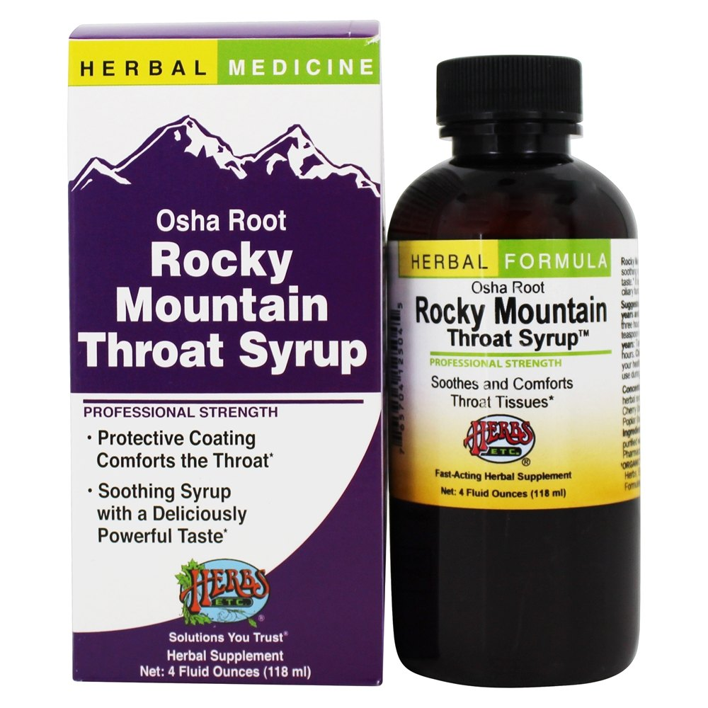 Herbs Etc - Osha Root Cough Syrup Professional Strength - 4 oz.