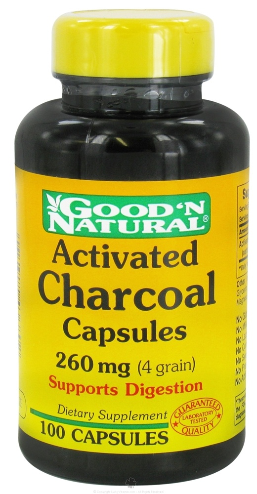 Carbon charcoal capsules