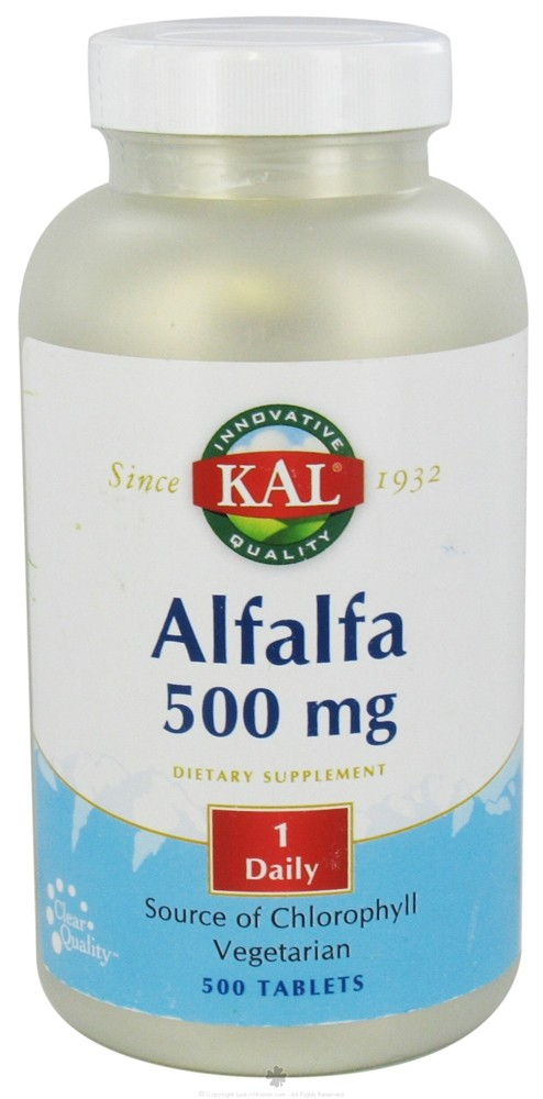 Kal - Alfalfa 500 mg. - 500 Tablets CLEARANCE PRICED
