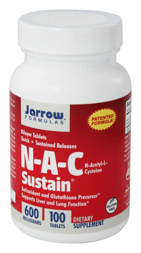 Jarrow Formulas - N-A-C Sustain 600 mg. - 100 Tablets
