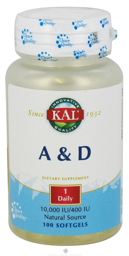Kal - A & D 10,000 IU/400 IU - 100 Softgels