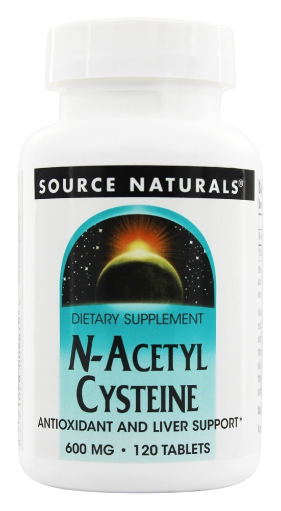 Source Naturals - N-Acetyl Cysteine 600 mg. - 120 Tablets