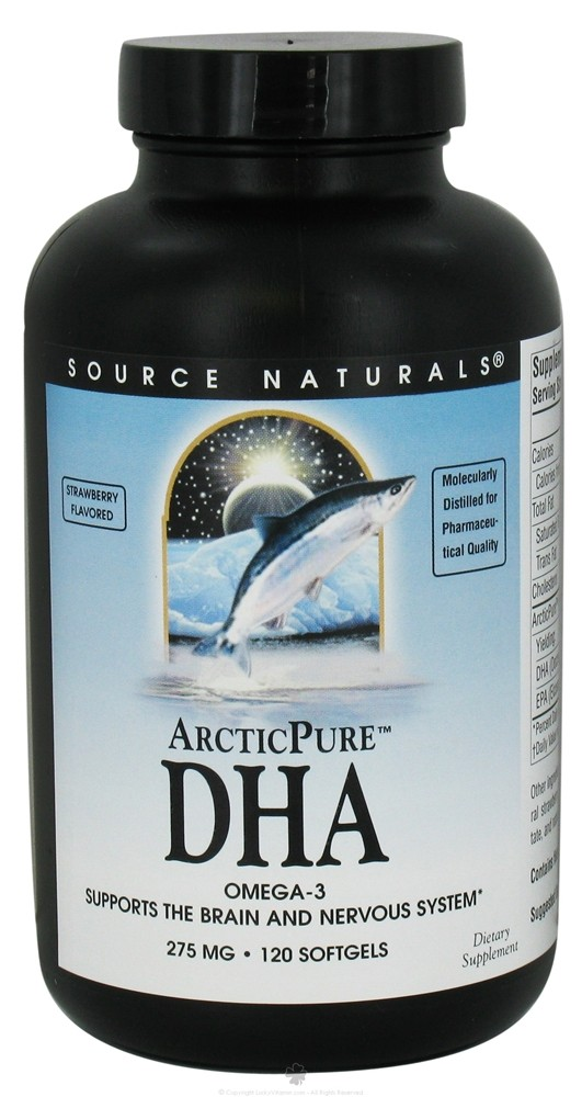 Source Naturals - Arctic Pure DHA Strawberry Flavored 275 mg. - 120 Softgels CLEARANCE PRICED