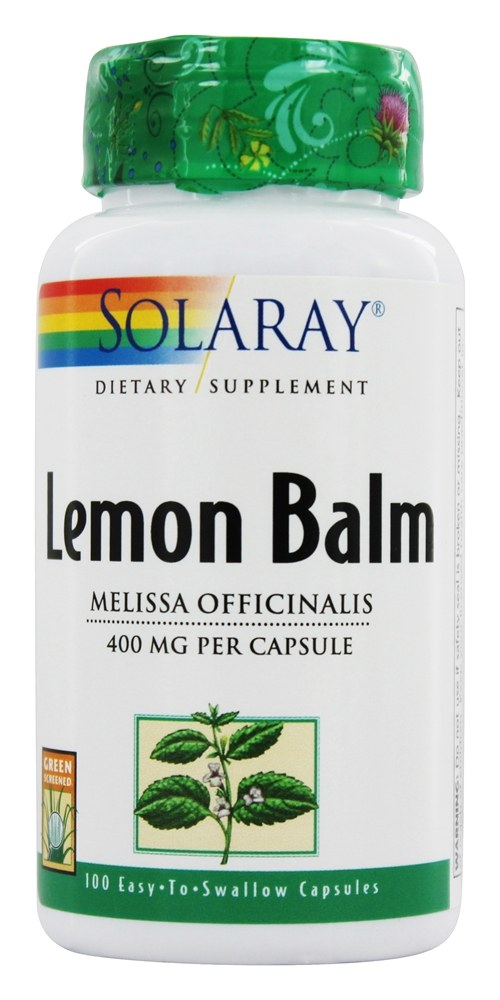 Solaray - Lemon Balm 400 mg. - 100 Capsules