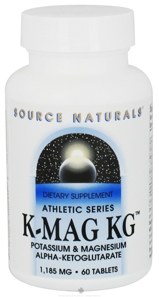 Source Naturals - Athletic Series K-Mag KG - 60 Tablets