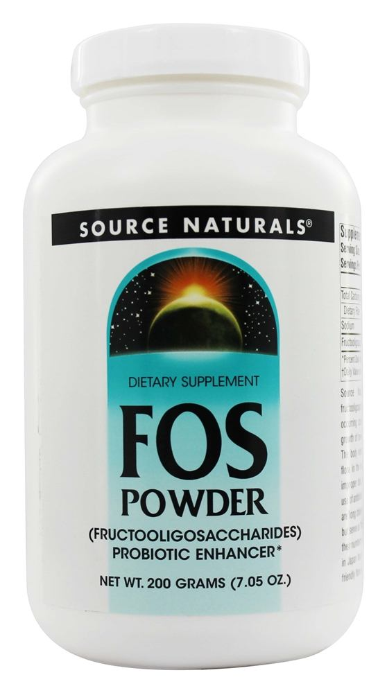 Source Naturals - FOS Powder Fructooligosaccharides Probiotic Enhancer - 200 Grams