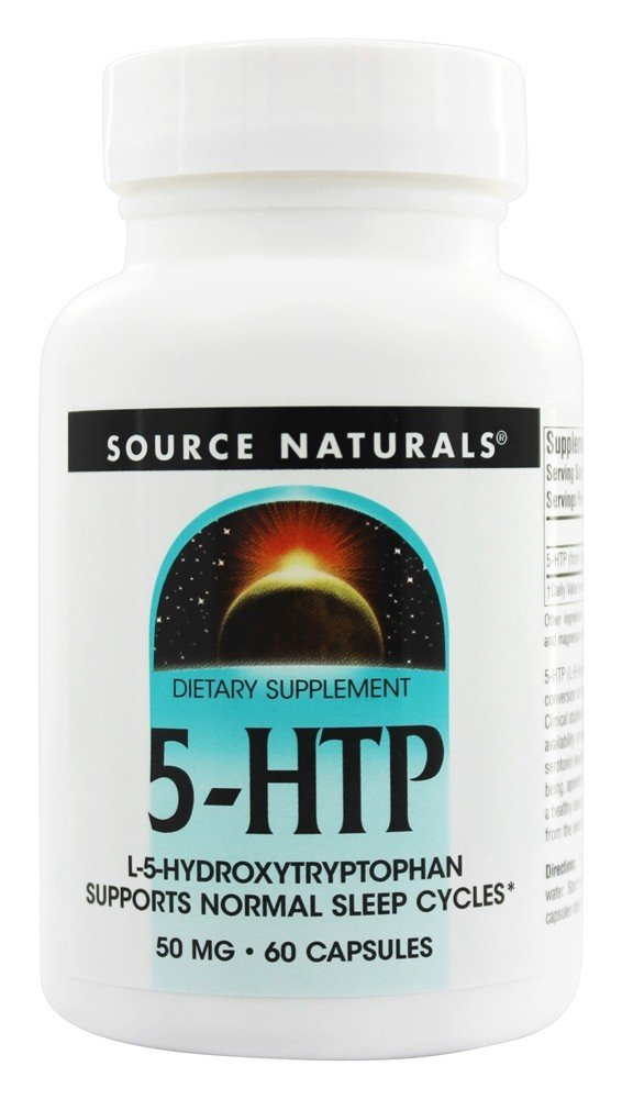 Source Naturals - 5-HTP L-5 Hydroxytryptophan 50 mg. - 60 Capsules