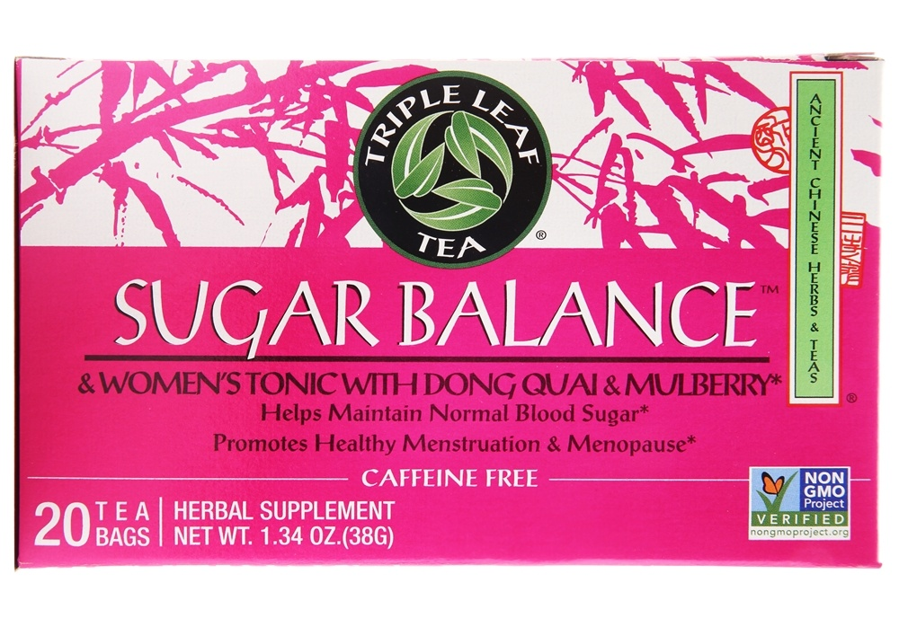 Triple Leaf Tea - Sugar Balance & Women's Tonic with Dong Quai - 20 Tea Bags
