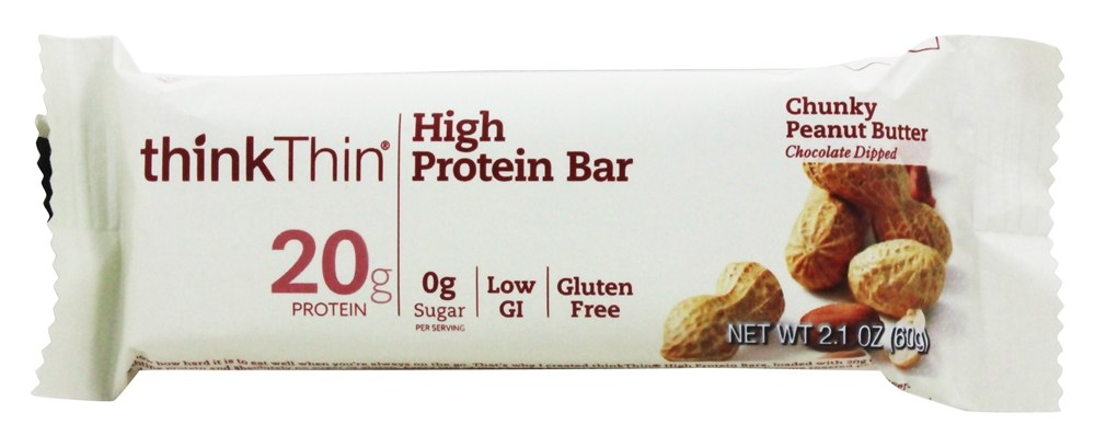 Think Products - thinkThin Protein Bar Chunky Peanut Butter - 2.1 oz.