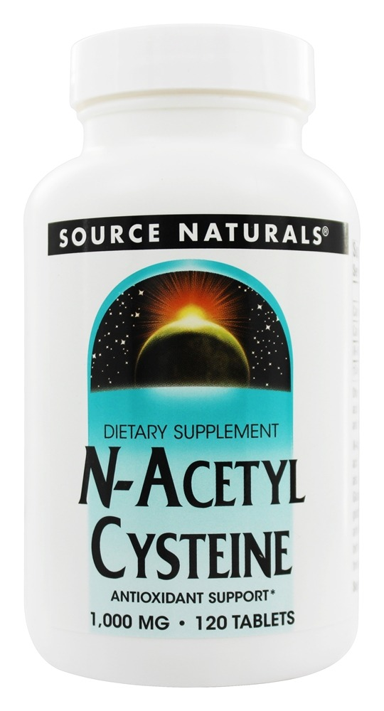 Source Naturals - N-Acetyl Cysteine 1000 mg. - 120 Tablets