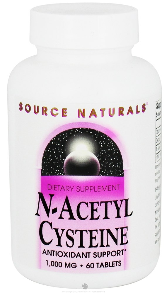 Source Naturals - N-Acetyl Cysteine 1000 mg. - 60 Tablets