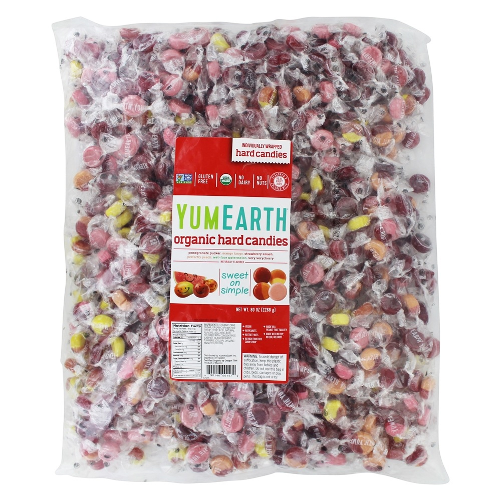 Yummy Earth - Organic Candy Drops Gluten Free Assorted Fruit Flavors - 5 lbs. BULK VALUE!