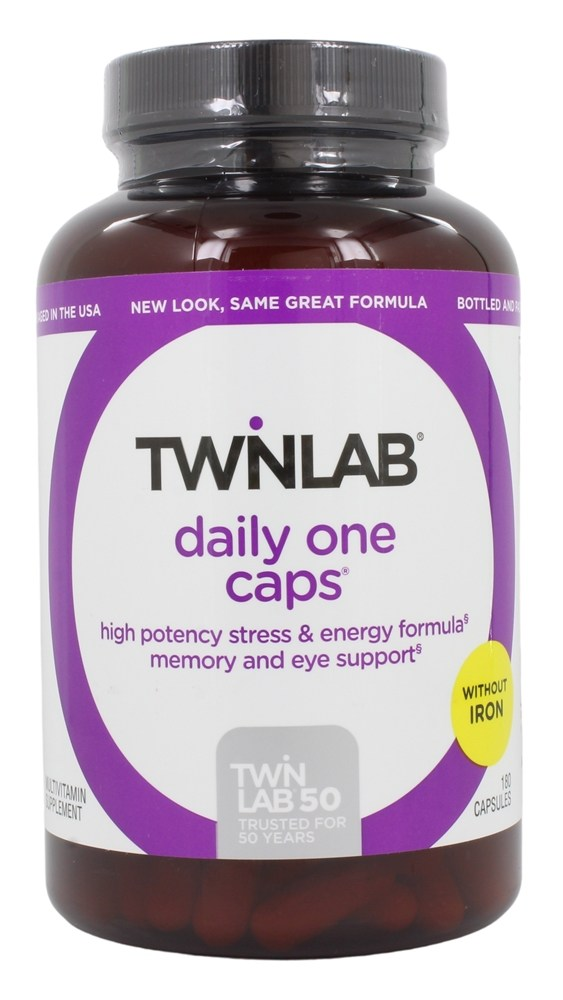 Twinlab - Daily One Caps Multivitamin & Mineral without Iron - 180 Capsules