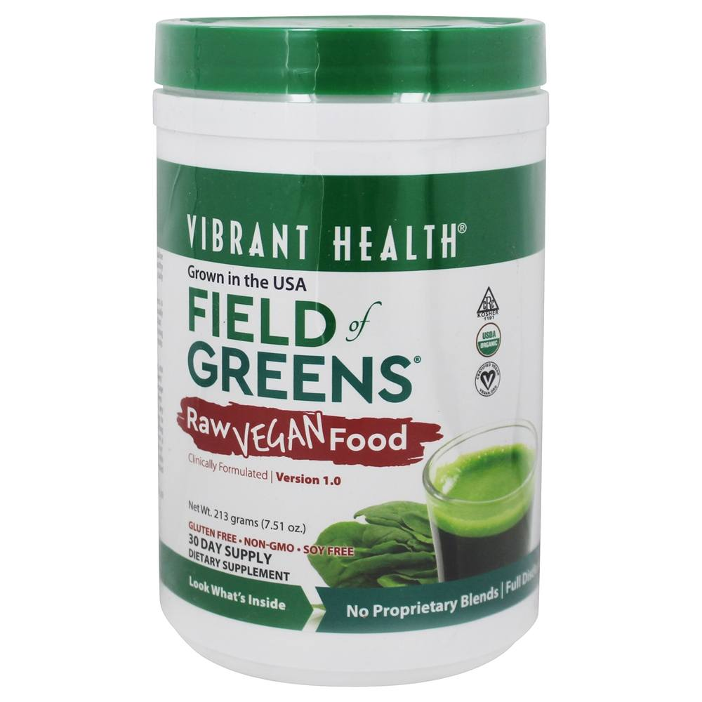 Vibrant Health - Field of Greens Raw Food 30 Day Supply - 7.51 oz.